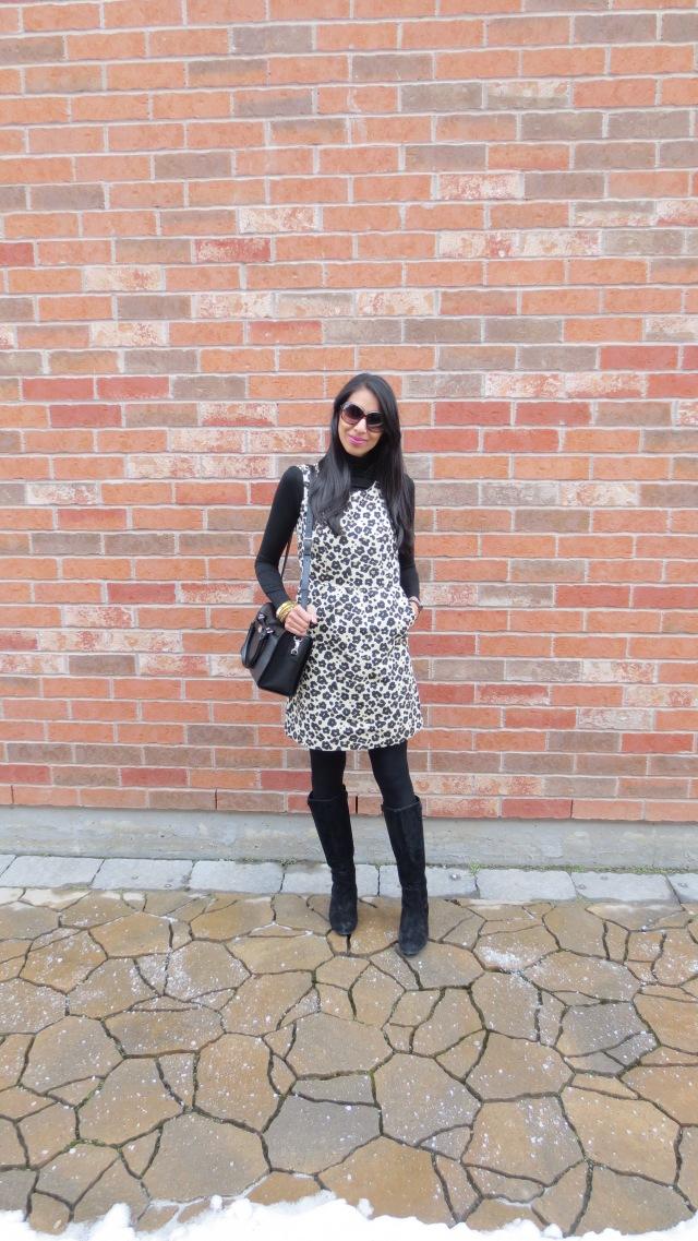 leopard dress boots turtleneck