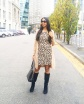 Leopard dress outfit boots