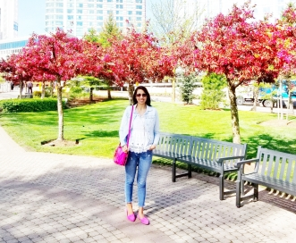 jeans casual pink shoes denim jacket canada niagara falls